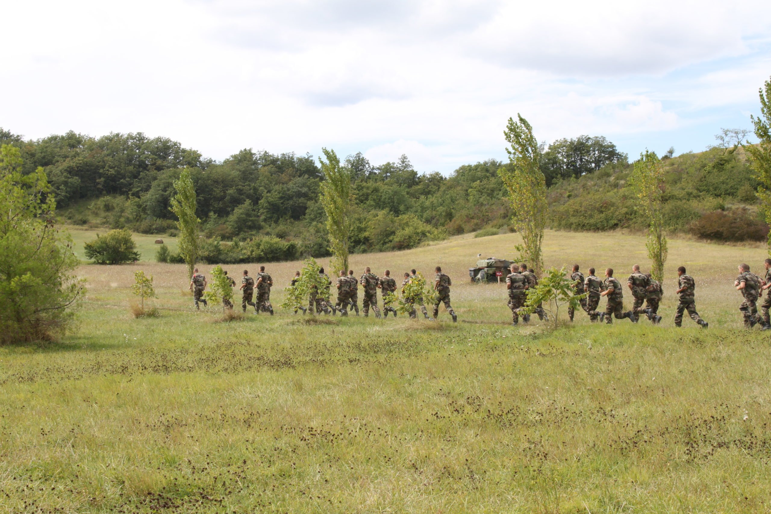 Legionnaires marching as part of basic training