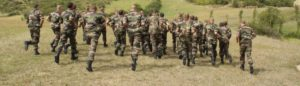French Foreign Legionnaires are doing a physical fitness test