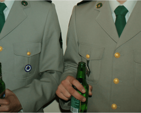 Legionnaires are drinking beer