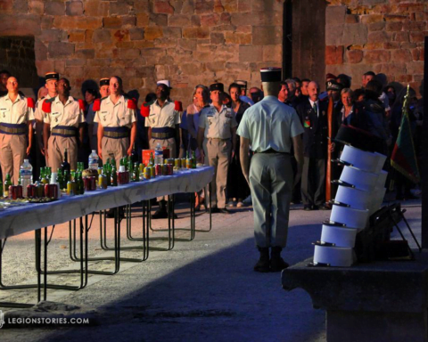 French Foreign Legion Kepi Blac Ceremony